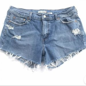 Levi's High  waisted booth Cherry shorts 12 Blue
